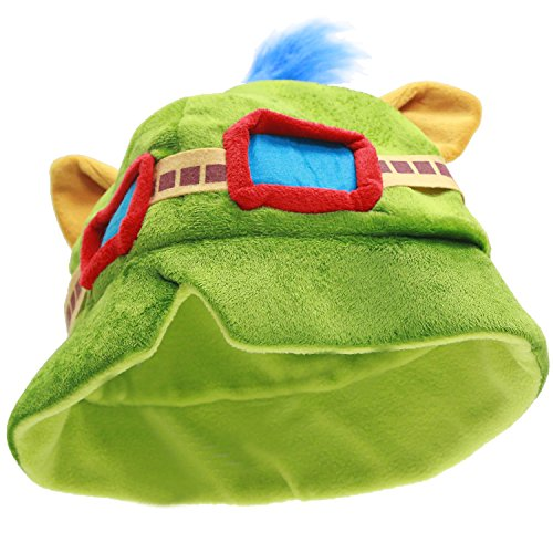 XCOSER Cute LOL Teemo Hats Plush Toys Props for Haloween Costume (Teemo Halloween Costume)