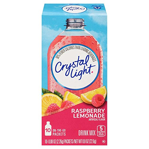 Crystal Light Juice - Crystal Light Drink Mix, Raspberry Lemonade, On The Go Packets, 10 Count (Pack of 6 Boxes)