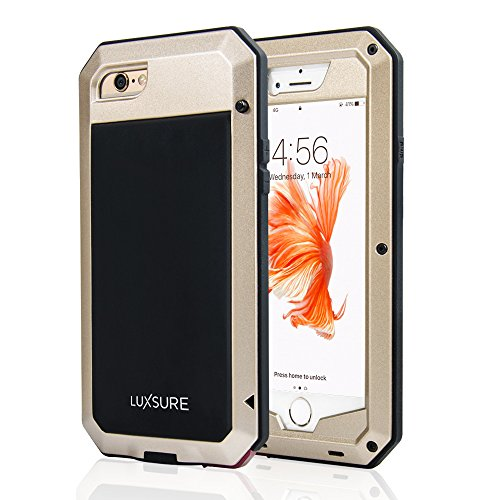 Luxsure Aluminum Alloy Metal Corning Gorilla Glass Protection Case Water (Mens Water Resistant Case)
