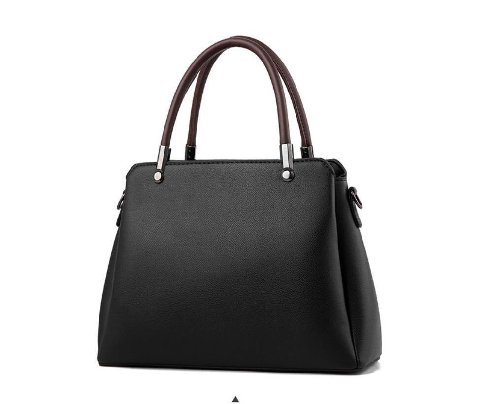 GWQGZ Neue Mode Handtaschen Mode Mode Mode Farbe Tasche Satchel Elegante Temperament Schwarz B07CVQ6B5N Schultertaschen Queensland 501bf3