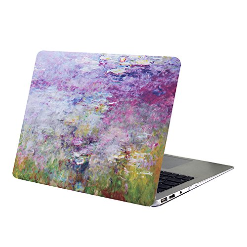 Macbook Air 13 Inch Case,YMIX Hard PC Protective Case Smooth Rubberized Cover for (Model A1466 & A1369) Apple MacBook Air 13.3 Inch (Purple Flower Sea)