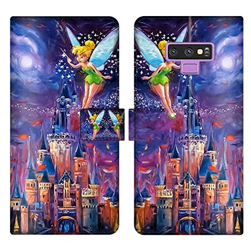 for Samsung Galaxy Note 9 Wallet Case Tinkerbell at Cinderella Castle Flip Leather Case with Kickstand PU Leather Stand Folio Cover Case for Samsung Galaxy Note 9 ()
