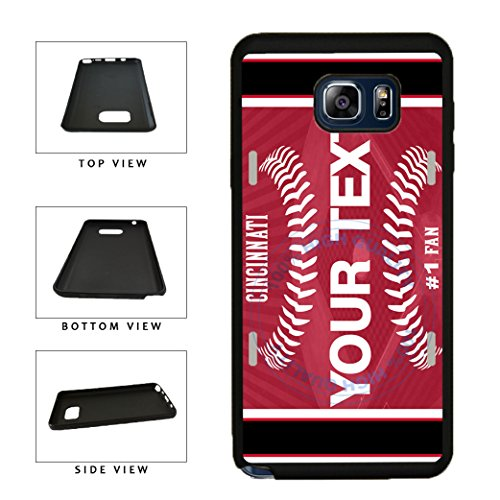 BleuReign(TM) Personalized Custom Name Baseball Cincinnati License Plate TPU RUBBER SILICONE Phone Case Back Cover For Samsung Galaxy S8 Plus
