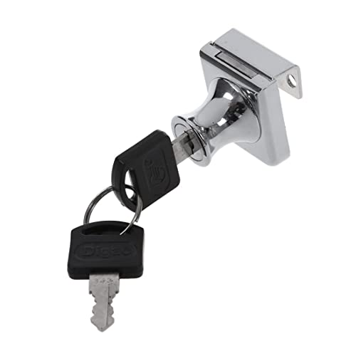 Chrome Sliding Glass Door Cabinet Lock With 2 Keys Key Amazon