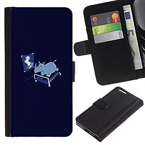 """JackGot ( Divertido Unicorn Rhino"""" ) Apple (5.5 inches!!!) iPhone 6+ Plus / 6S+ Plus la tarjeta de Crédito Slots PU Funda de cuero Monedero caso cubierta de piel"""