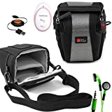 DURAGADGET Shock-Absorbing, Water-Resistant Cross-Body Bag Compatible with the AngelSounds Fetal Doppler Baby Heart Monitor - Includes Retractable Mini USB Cable and LED Green Flashing Earphones