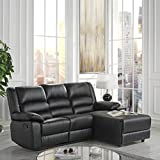Case Andrea Milano Bonded Leather Sectional Sofa with Single Recliner