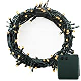 PMS 500 LED String Fairy Lights Green Cable Battery Power Operated Waterproof Indoor & Outdoor for Christmas Tree Xmas Party Garden Decoration(500 LEDs Green Cable, Warm White)