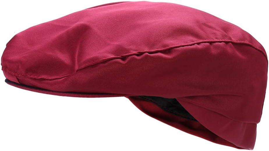 TENDYCOCO Cappello da Cuoco Barista Berretto Cappello Cuoco Cappello da Cameriere per Ristorante Dessert Negozio-Rosso