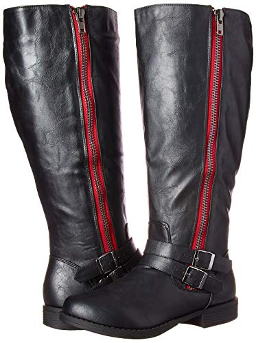 Brinley 's 6 Rojo Women Co US Fulton Knee Black Boot Regular Red High Negro EqrqAx