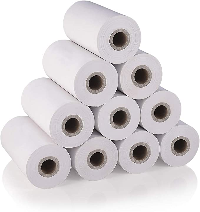 MUNBYN Thermal Receipt Paper Rolls, 80mm 3 1/8 x 52.4 10 rolls Sealed Pack