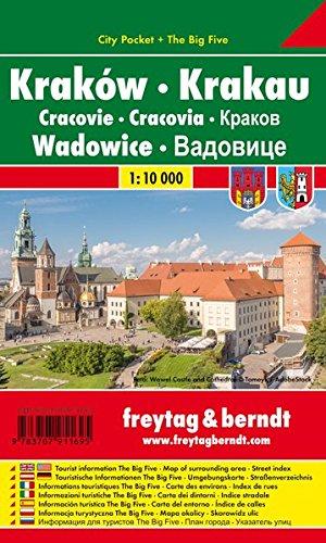 Krakau - Wadowice, Stadtplan 1:10.000, City Pocket + The Big Five, freytag & berndt Stadtpläne