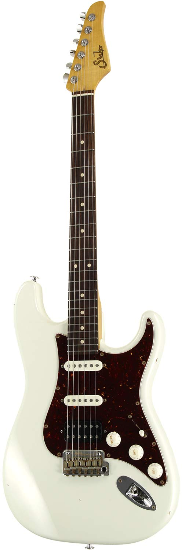 Suhr Guitars Pro Series Classic Antique SSH Olympic White/R with Tortoiseshell Pickguard   B07KCSJ7P8