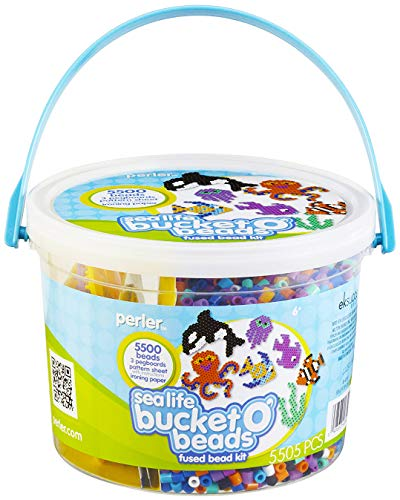 Perler Beads Sea Life Ocean Fuse Bead Bucket Craft Activity Kit, 5505 pcs ()