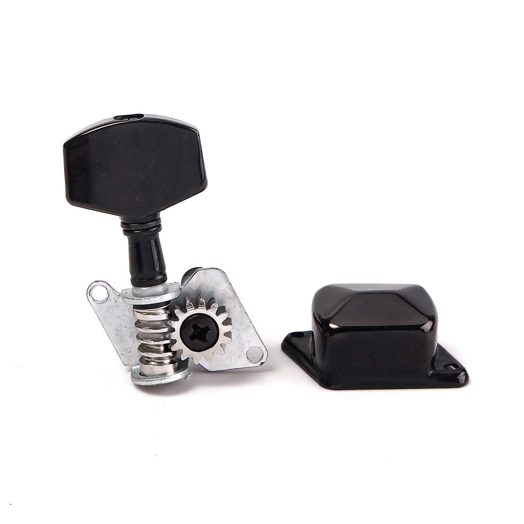 Baoblaze 3L 3R Black Semiclosed Tuning Pegs Machine Heads Lock Tuning Tuners for Acoustic Guitar Accessory Set of 6