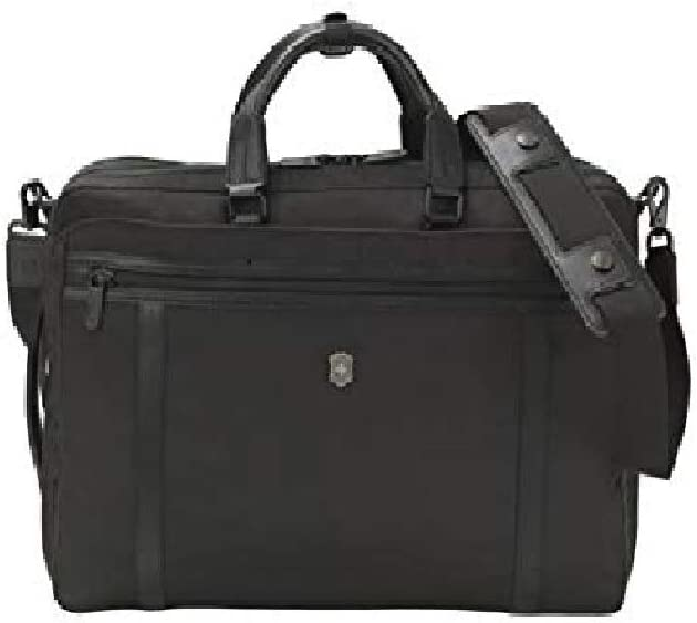 Victorinox Werks Professional 2.0 2-Way Carry Laptop Bag with Lockable Zippers, Black, 12.6-inch