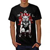 Wolves Are Here Bike Wild Wolf Men NEW Black S-5XL T-shirt | Wellcoda