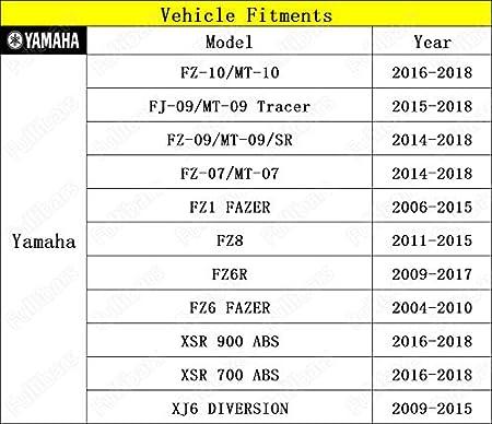 3D m/étalliques Surface Kit Levier dembrayage et levier de frein pour Yamaha R1 2004-2008//R6 2005-2016//R6S 2006-2007 Yamaha R1 R6 levier embrayage frein Noir