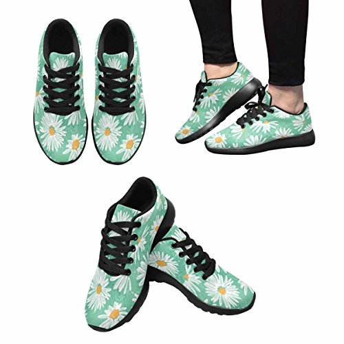 InterestPrint Womens Trail Running Shoes Jogging Lightweight Sports Walking Athletic Sneakers Pretty Daisies Pattern Multi 1 IHwJw6HYC