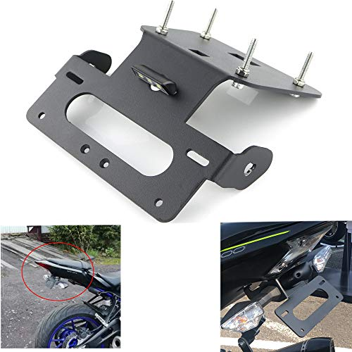 Rear Tail Tidy/Fender Eliminator Kits For Yamaha YZF-R3 / YZF-R25 / MT-25 / MT-03, with Led License Plate Light, Compatible with OEM/Stock Turn Signal/Indicator (Best Stocks Under 50 Dollars 2019)