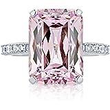 Women Fashion 925 Silver Pink Kunzite Ring Wedding Bridal Jewelry Size 6-10 (7)