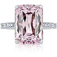 Women Fashion 925 Silver Pink Kunzite Ring Wedding Bridal Jewelry Size 6-10 (6)