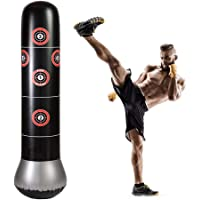 HAMISS Fitness Punching Bag Heavy Inflatable Punching Free Standing Bounce Back Freestanding Children Play Adults Boxing MMA Target Bag 5.25ft
