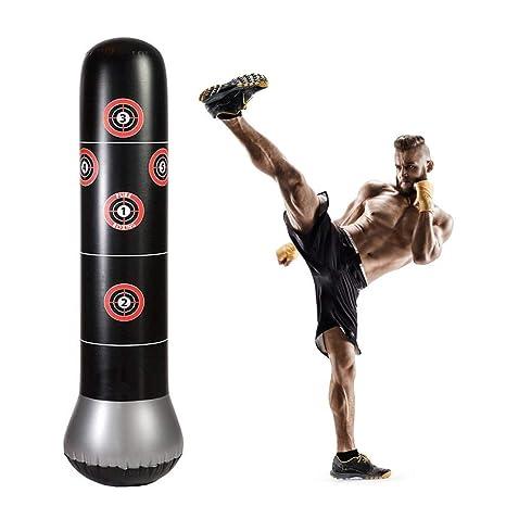 HAMISS - Saco de Boxeo Hinchable para niños y Adultos, Saco de Boxeo para Artes Marciales Mixtas de 5.25 pies