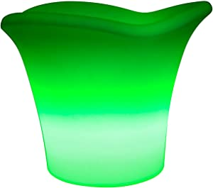 Waterproof Colours Changing LED Ice Bucket,Large Capacity Wine Cooler Container,Bar KTV Luminous Decorative Lamps Furniture