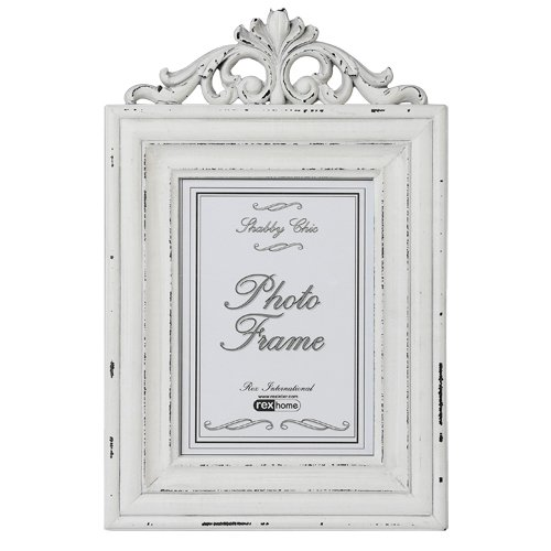 large rococo wooden white distressed picture frame - White Vintage Picture Frames