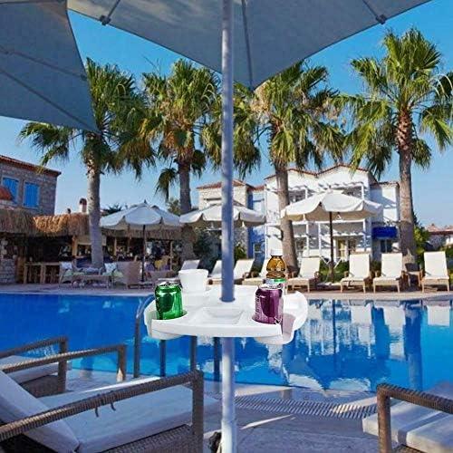 piscina ombrellone da spiaggia vassoio con supporto per coppe snack Cups per giardino Doggo