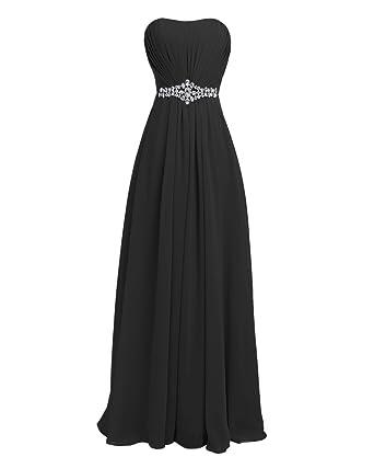 Black Strapless Bridesmaids