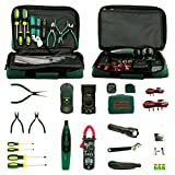 Aidetek Electrician Kit Mastech Ms5902 Ms8233b Ms2008a Ms6906 Clamp Multimeter Tester + Screwdriver + flashlight + Wrench + 3 pliers + tool bag retail valued as $254
