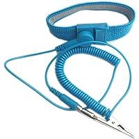Jojckmen Anti Static PVC Wrist Band ESD Wrist Strap Antistatic Wristband Discharge Band Grounding Prevent Static Shock