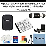 Replacement Olympus LI-70B Lithium-Ion Camera Battery for Olympus VG-140 VG-145 VG-130 VG-120 VG-110 Digital Camera +High Speed Memory Card Reader +16GB Memory Card +AC/DC Charger +Deluxe Hard Shell Carrying Case +Mini Tripod +Accessory Kit