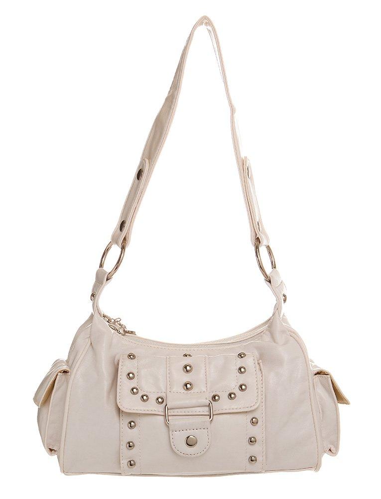 Silver Studded Hobo women handbag Shoulder Handbag by Handbags For All