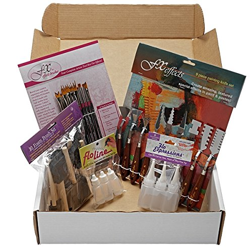 (Creative Mark FX Super Set - Effects Paintbrushes, Effects Pallet Knives, Flo Line Detail Bottles, Foam Brushes, Special Effects Painting Paintbrush Set, Acrylics, Mixed Media, Watercolors, Oils)