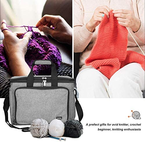 perfect for knit or crochet. Project bag A generously sized zipped pouch 2-3 skeins Medium