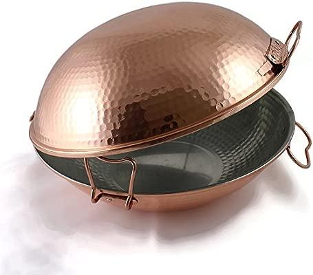 Cataplana original portuguesa en cobre vitroceramica (33 Cm)
