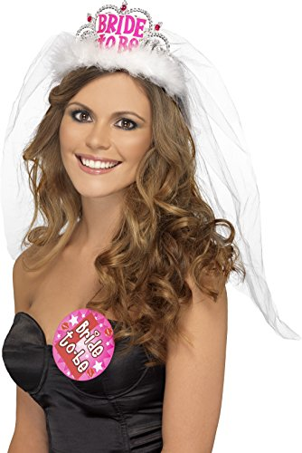 Bride To Be Tiara With Veil - Bachelorette Party Tiara