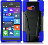 Nokia Lumia 735 Case, Microsoft Lumia 735 Case [Storm Buy] Premium Durable Hard&Soft Rugged Shell Hybrid Protective Phone Case Cover with Built in Kickstand (Blue)