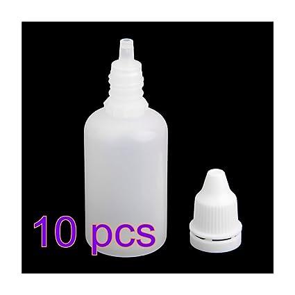 Botellas cuentagotas exprimibles de plástico Zhoke, para gotas de ojos, vací