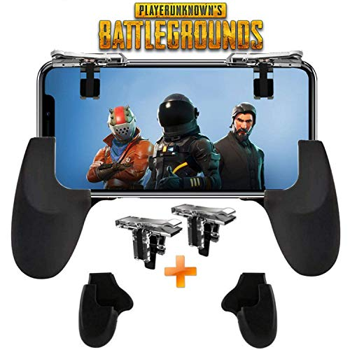 er [Upgrade Version] Mobile Gaming Trigger for PUBG/Fortnite/Rules of Survival Gaming Grip and Gaming Joysticks for 4.5-6.5inch Android iOS Phone (Mobile Game Controller,) ()