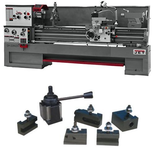 JET GH-1880ZX Large Spindle Bore Precision Lathe with 400 Series Quick Change Tool Post Set