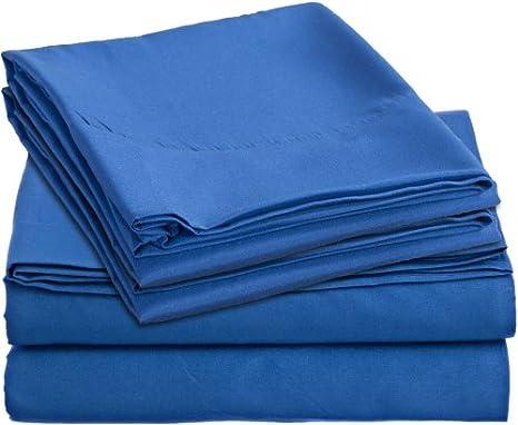 Clara Clark outlet 4 pc juego de sábanas - Full doble, azul - Royal colores para niños - Con diseño de caballos.: Amazon.es: Hogar