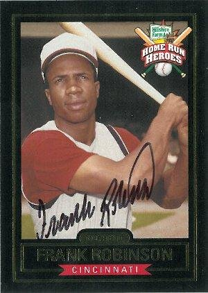 Frank Robinson Signed Cincinnati Reds Hillshire Farms Home