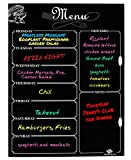 Magnetic Refrigerator Chalkboard,Weekly Menu, Meal Planner, Grocery Shopping List, Dry Erase Board, For Kitchen Fridge (16inchx12inch)