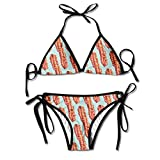 Women Swimwear Bacon Boxing Bikini Set Swimsuits 2 Piece