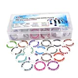 CZYY D&D Acrylic Condition Rings 72 PCS Status Effect Markers in 18 Conditions & Colors with 3x6 Storage Box Great DM Tool for Dungeons & Dragons, Pathfinder and RPG Miniatures