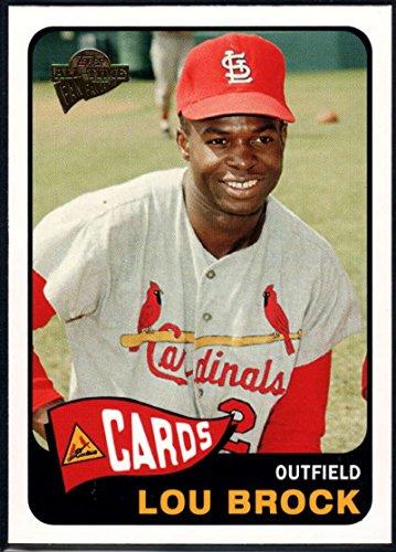 Lou Baseball Card Brock (Baseball MLB 2005 Topps All-Time Fan Favorites #22 Lou Brock NM-MT Cardinals)